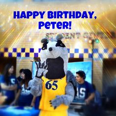 Happy Birthday to Peter the Anteater, the best mascot ever! Zot! Zot!   #UCIrvine #UCI #PetertheAnteater #anteater #zot
