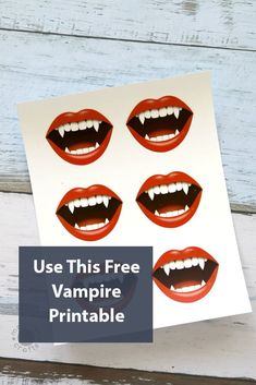 Use This Free Vampire Printable Spooky Halloween Crafts, Halloween Activities For Kids, Halloween Treats, Harvest Season, Love Is Free, Fall Diy, Gift Tags, Free Printables, Costume Ideas