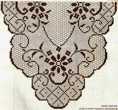 Kira crochet: Scheme no. Granny Square Crochet Pattern, Crochet Stitches Patterns, Thread Crochet, Crochet Motif, Crochet Doilies, Crochet Flowers, Stitch Patterns, Crochet Table Runner, Crochet Tablecloth