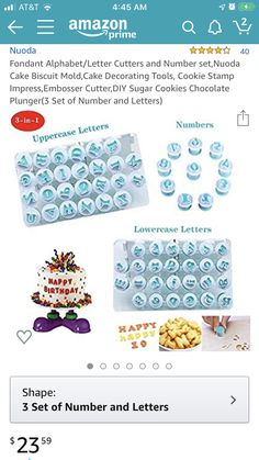 Chocolate Cookies, Sugar Cookies, Grown Up Christmas List, Decorating Tools, Letters And Numbers, T 4, Fondant, Alphabet, Shapes