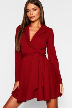 36deeb523a2e1 Click here to find out about the Tie Waist Skater Shirt Dress from Boohoo,  part
