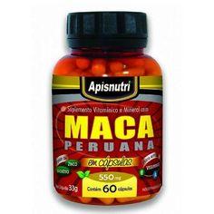 Maca Peruana  60 cápsulas 550 mgs - Apis Nutri