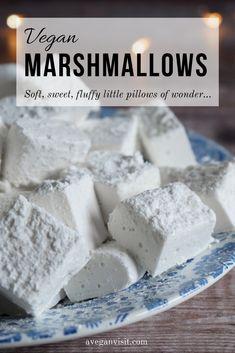 Gelatin Free Marshmallows, Vegetarian Marshmallows, Recipes With Marshmallows, Homemade Marshmallows, Chocolate Bomb, Decadent Chocolate, Vegan Sweets, Vegan Desserts, Healthy Dessert Recipes