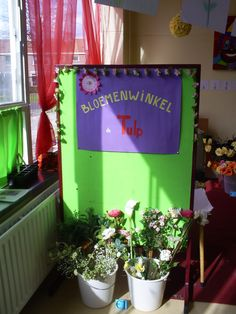 bloemenwinkel - flowershop Garden Projects, Flower Power, Preschool, Spring, Day, Flowers, Kids, Pictures, Learning