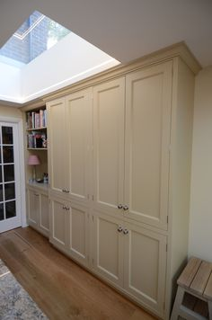Oak veneered carcasses for larder cupboards. Timber frames ready for doors to be hung. | Grafton Square London SW4 | Pinterest | Joinery Larder cupboard ... & Oak veneered carcasses for larder cupboards. Timber frames ready for ...