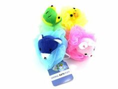 "Animal Bath Scrubber by bulk buys. $32.93. BULK BUYS. Loofahs & Shower Scrubs. Personal Care. Animal scrubbers are perfect for kids bath and shower times. Comes in assorted animals including: bear, frog, rabbit and duck. Colors can include light blue, green, pink and yellow. Has a nylon rope for convenient hanging. Comes packaged loose with a hang tag. Scrubbers are approximately 4 1/2"" in diameter.,import,yellow,green,blue,pinknylon,-qty.per Pack-144, unit price $0.9108"