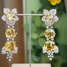 This beauty has brighten my day Irene earrings from Bal du Palais d'Hiver collection by Van Cleef and Arpels set in gold with Diamonds.
