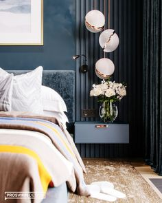 CHARM on Behance Hotel Bedroom Design, Bedroom Closet Design, Home Room Design, Master Bedroom Design, Bedroom Decor, Bedroom Color Schemes, Interior Exterior, Luxurious Bedrooms, House Rooms
