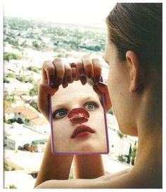 Helmut Newton. Lipstick, Bekah Jenkins.