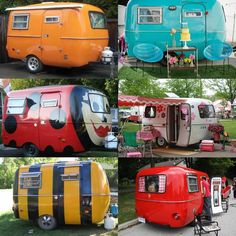 Boler campers are simply the cutest, extra points when they look like these! Have a favorite? #camping #RVing