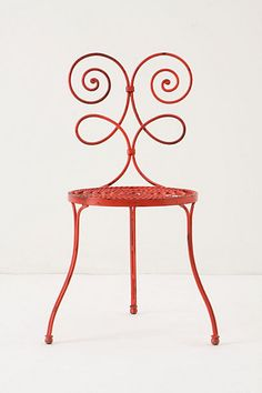 Red garden chair - Be still my heart!  Also available in turquoise.
