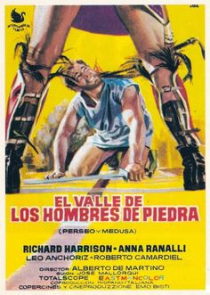 "MP502. ""El Valle de los Hombres de Piedra"" Spanish Movie Poster by Jano (Alberto de Martino 1963) / #Movieposter"