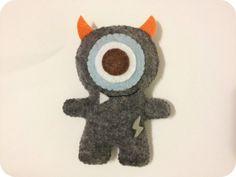 Boltah the Lightning Monster  Felt Plush Toy by pinkTopic on Etsy, $9.50