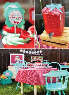 Darling Cherry On Top Party {Red Gingham & Teal}