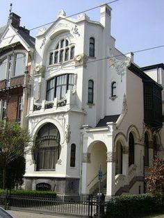 Art Nouveau House Exterior Architecture: