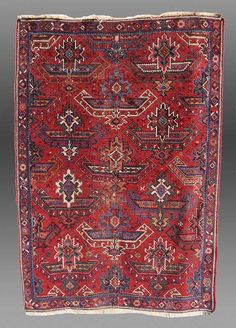 Vintage Antique Afshar Rug South Persia 19th by tcEclecticImages