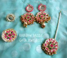 Gota jewellery set for Mehndi