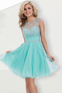 Splendid Scoop Neckline Short/Mini Open Back Dresses 2015 New Style Organza - 2015 Homecoming Dresses - shop dresses $159.99 Save $221.41 *color