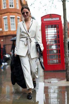 pijama branco street style