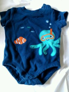 a0a16bf53 Gymboree baby boy onsie size 3-6 mos smoke free home 6 Mo, Applique