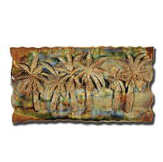 Earth Tones Large Six Palm Tree Plaque