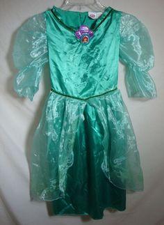 Disney Ariel Costume The Little Mermaid Long Dress Up Princess Size Medium 7-8 #Disney #Dress