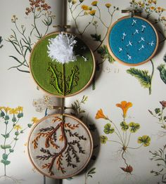 Dandelion Embroidered Wall Art | Art Pieces | The Monster's Lounge | Scoutmob Shoppe | Product Detail