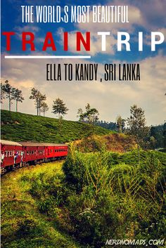 Train travel in Sri Lanka is both a beautiful and affordable way to see the country, and no trip is more scenic than taking the train from Ella to Kandy. It might even be the world`s most beautiful train trip?