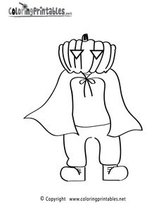 Halloween Coloring Pages | Halloween Costume Coloring Page - A Free Holiday Coloring Printable