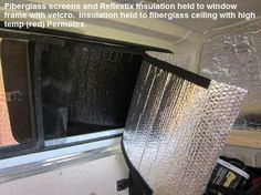 How to insulate a car, van or rv from the heat and cold.