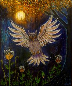 """""""Spirit Owl"""" by Shanti I.Kassebom #bloomtrue"""