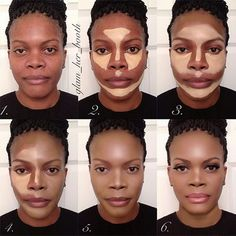 Contouring Peau noire > Contouring – Contouring and Highlighting Le Contouring, Contouring And Highlighting, Contouring Dark Skin, Contouring Products, Contouring Tutorial, African American Makeup, African American Women, African Makeup, Black Makeup African Americans