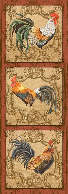 I uploaded new artwork to fineartamerica.com! - 'Rooster Trio-2' - http://fineartamerica.com/featured/rooster-trio-2-jean-plout.html via @fineartamerica