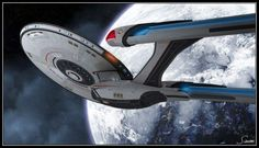 The lovely Exeter-class from Star Trek Online looks somewhat like a further refit of the Constitution class beyond the movie era. Some people have seen this picture and concluded that's what this is. Don't believe everything you read on the internet! LOL