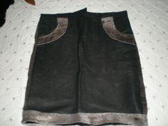 Skind nederdel med sælskind