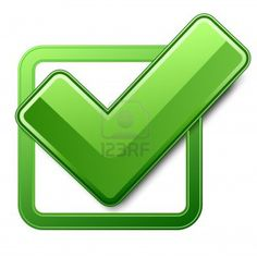 check sign | Box With Check Mark Symbol For Facebook