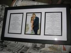 wedding vows framed - Each have our own for ceremony