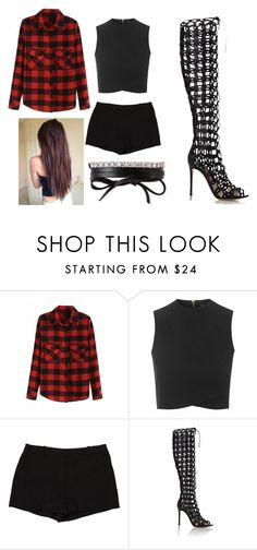 """Untitled #1670"" by aurorazoejadefleurbiancasarah ❤ liked on Polyvore featuring Topshop, L'Agence, Gianvito Rossi and Fallon"