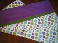 Magic Pillow Case Bright Purple Blue & Green Dots by BeBeBeez