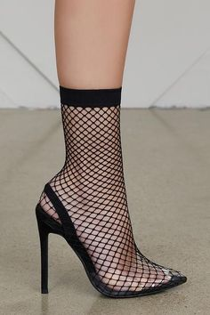 Fishnet Perspex Slingback Pump (Black)  Preorder Ship December 7th   Pictures Of Shoes 7dcaa8fee617