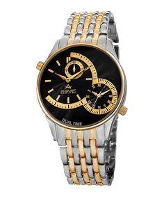 Two-tone double dial bracelet watch Sale - August Steiner
