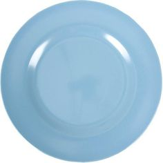 Blue Melamine Kids Plate by Rice DK, Offerd by Modern Rascals. Fun, Durable Kids Cups and Dishes.