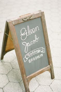 Pretty wedding or theme of the evening chalkboard sign.