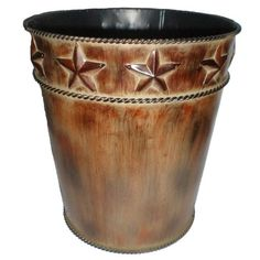Star Waste Basket Rustic Country Feel Perfect For Bathroom Home Cabin Lodge New #HiendAccents