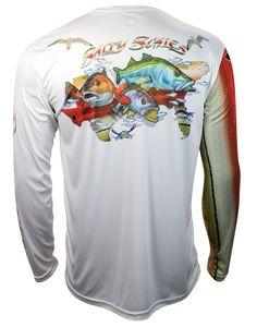 6c16893e4d366 New for 2016 the Salty Scales inshore slam shirt featuring a redfish trout  and snook. New for 2016 the Sa