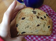 Pumpkin raisin whole wheat bread. Perfect for a chilly morning!