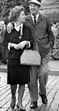Pablo Neruda insieme a Matilde Urrutia: la loro storia d'amore durò dal 1949 al 1973, anno della morte del poeta (FP)