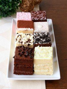 Really yummy eggless petite cube cakes. Eggless Fudge Brownie Recipe, Eggless Desserts, Eggless Recipes, Eggless Baking, Cake Recipes, Small Desserts, Mini Desserts, Cupcakes, Cupcake Cakes