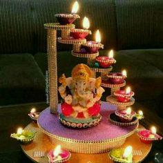 Ganpati Decoration Design, Diwali Decoration Items, Diwali Decorations At Home, Festival Decorations, Good Morning Beautiful Pictures, Good Morning Picture, Good Morning Flowers, Good Morning Images, Beautiful Gif