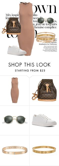 """Louis Vuitton"" by amra-mujcic on Polyvore featuring moda, NLY Trend, Louis Vuitton, Ray-Ban, Kenneth Cole i Cartier"